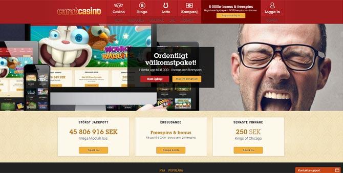 Free spins på Carat Casino