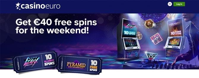 Free spins på CasinoEuro