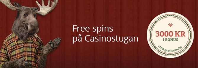 Free spins på Casinostugan