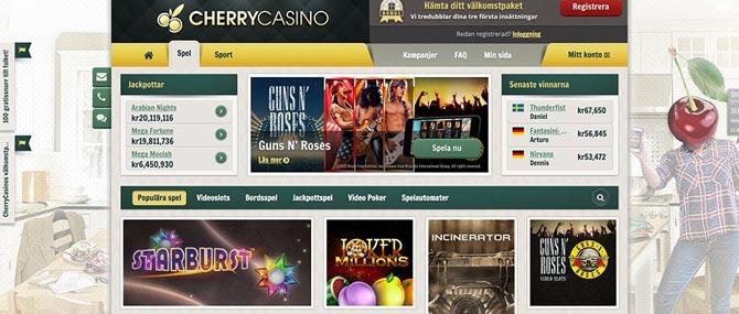 Free spins på Cherry Casino