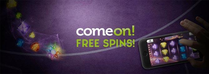 Free spins på ComeOn