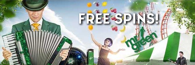 Free spins på Mr Green