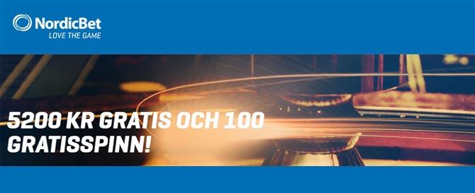 Free spins på Nordicbet