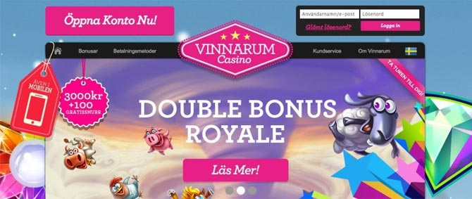Free spins på Vinnarum
